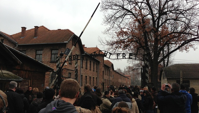 As we were in Krakow, we felt it was necessary to not only see the city, but to see the place just one hour outside of it where so many of its residents (and all of European Jews) perished. This is the main gate at Auschwitz.
