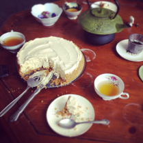 lavender earl gray cheesecake