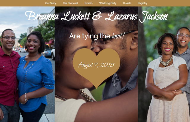 Bre and Laz Get Married Homepage